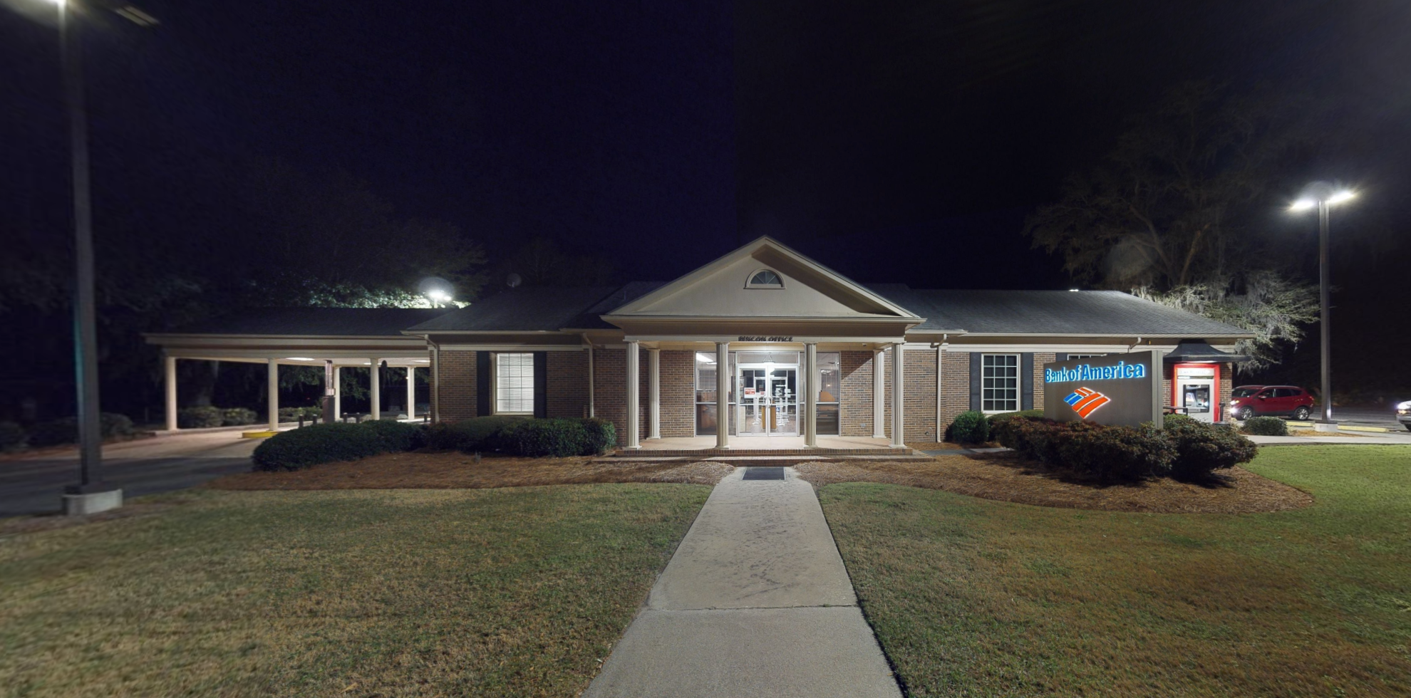 Bank of America financial center with walk-up ATM   119 N Columbia Ave, Rincon, GA 31326