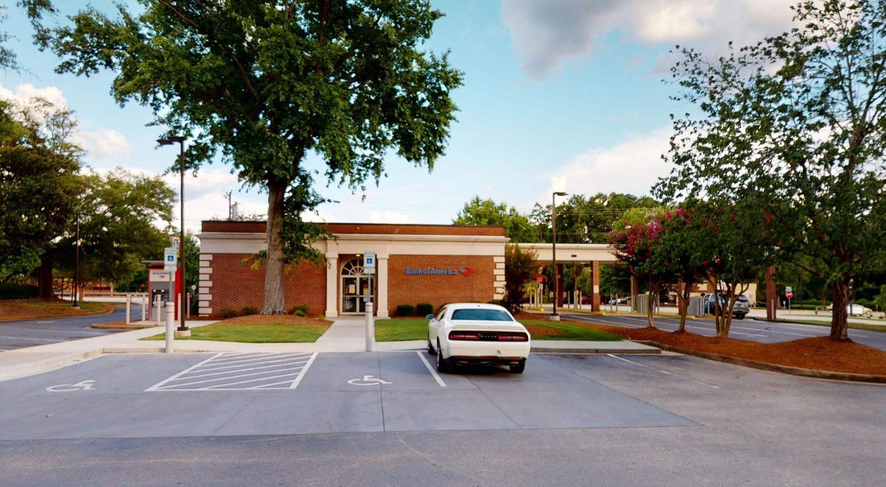 Bank of America financial center with drive-thru ATM and teller   1604 E Main St, Spartanburg, SC 29307