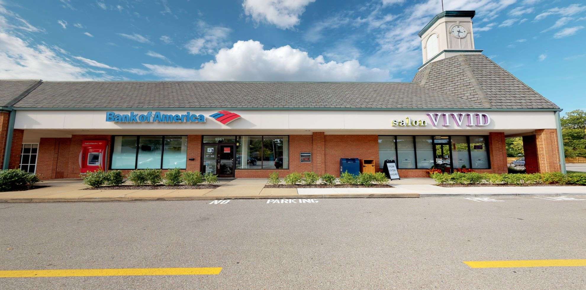 Bank of America financial center with drive-thru ATM   9961 Manchester Rd, Saint Louis, MO 63122