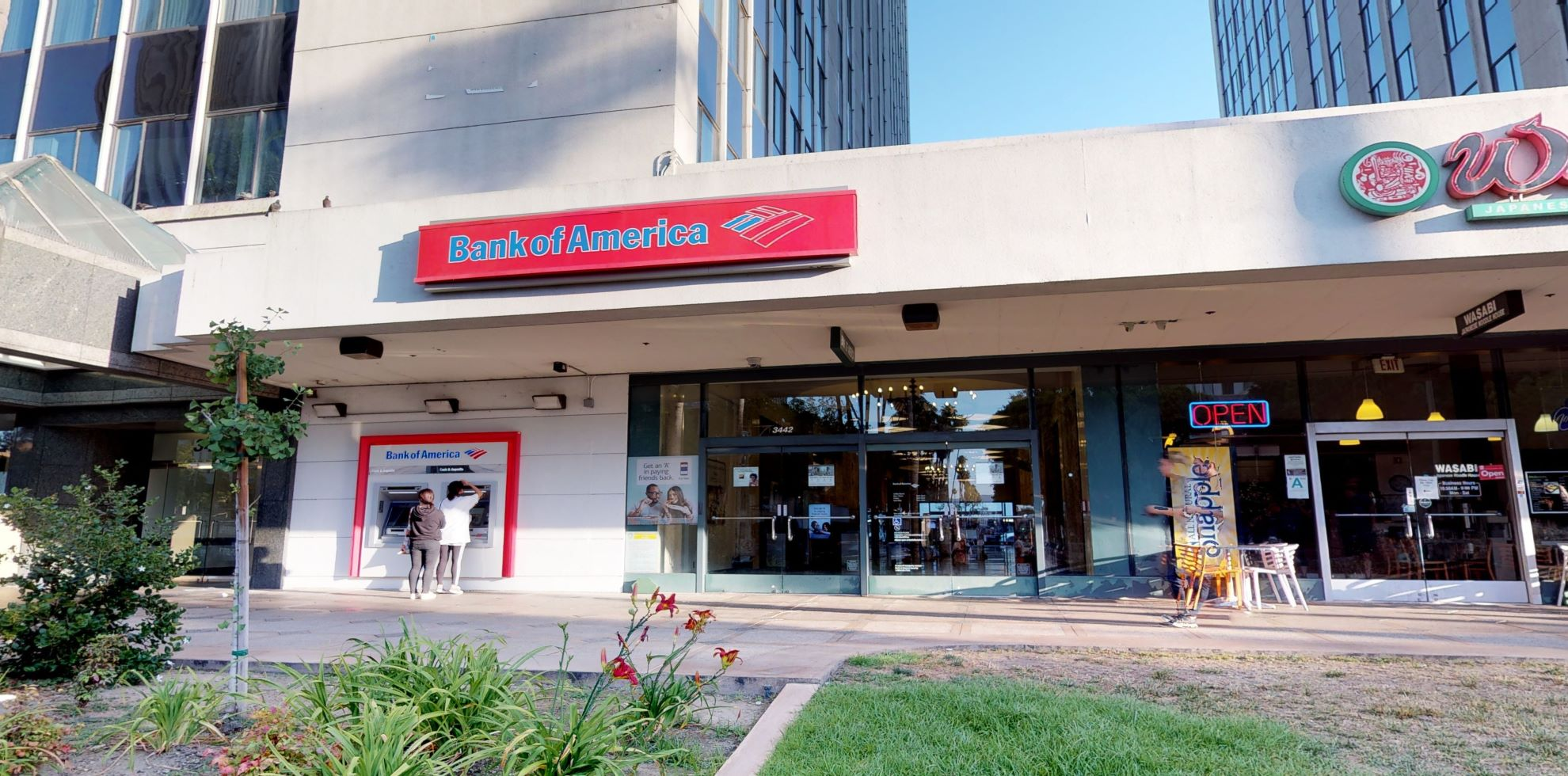 Bank of America financial center with walk-up ATM | 3442 Wilshire Blvd, Los Angeles, CA 90010