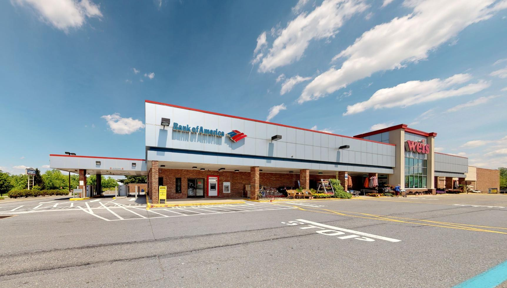 Bank of America financial center with drive-thru ATM   630 Baltimore Blvd, Westminster, MD 21157